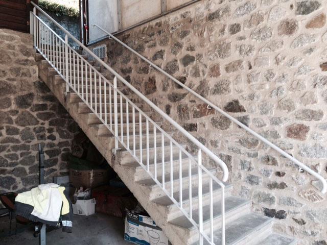 Rambarde escalier thermolaqué