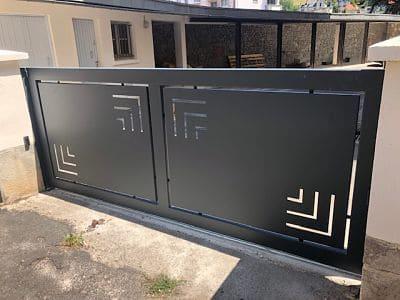 Portail design avec découpe plasma