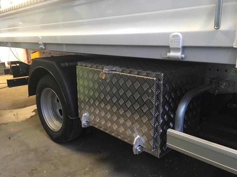 Coffre aluminium pour camion