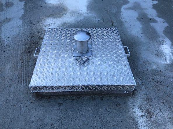 capot aluminium ventilé